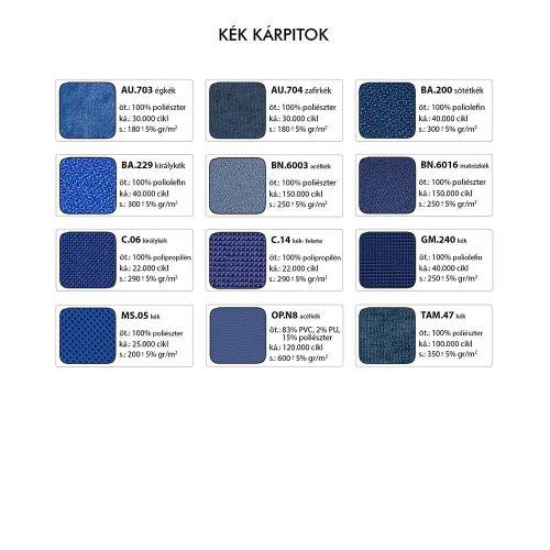 AKO minimál formatervű lobby fotel - Kék kárpitok