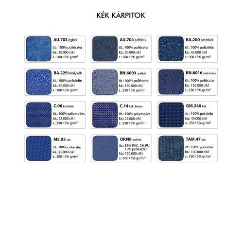Cinque Syn Standard forgószék - Kék kárpitok