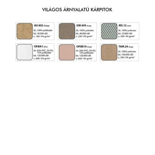 Xenia Asyn forgószék - Világos színű kárpitok