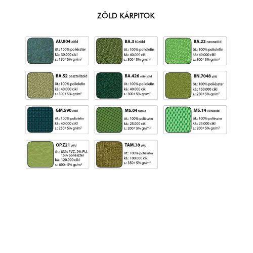 2170 TN Rocky tárgyalószék - Zöld kárpitok