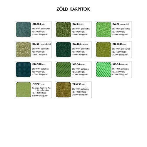 AKO minimál formatervű lobby fotel - Zöld kárpitok