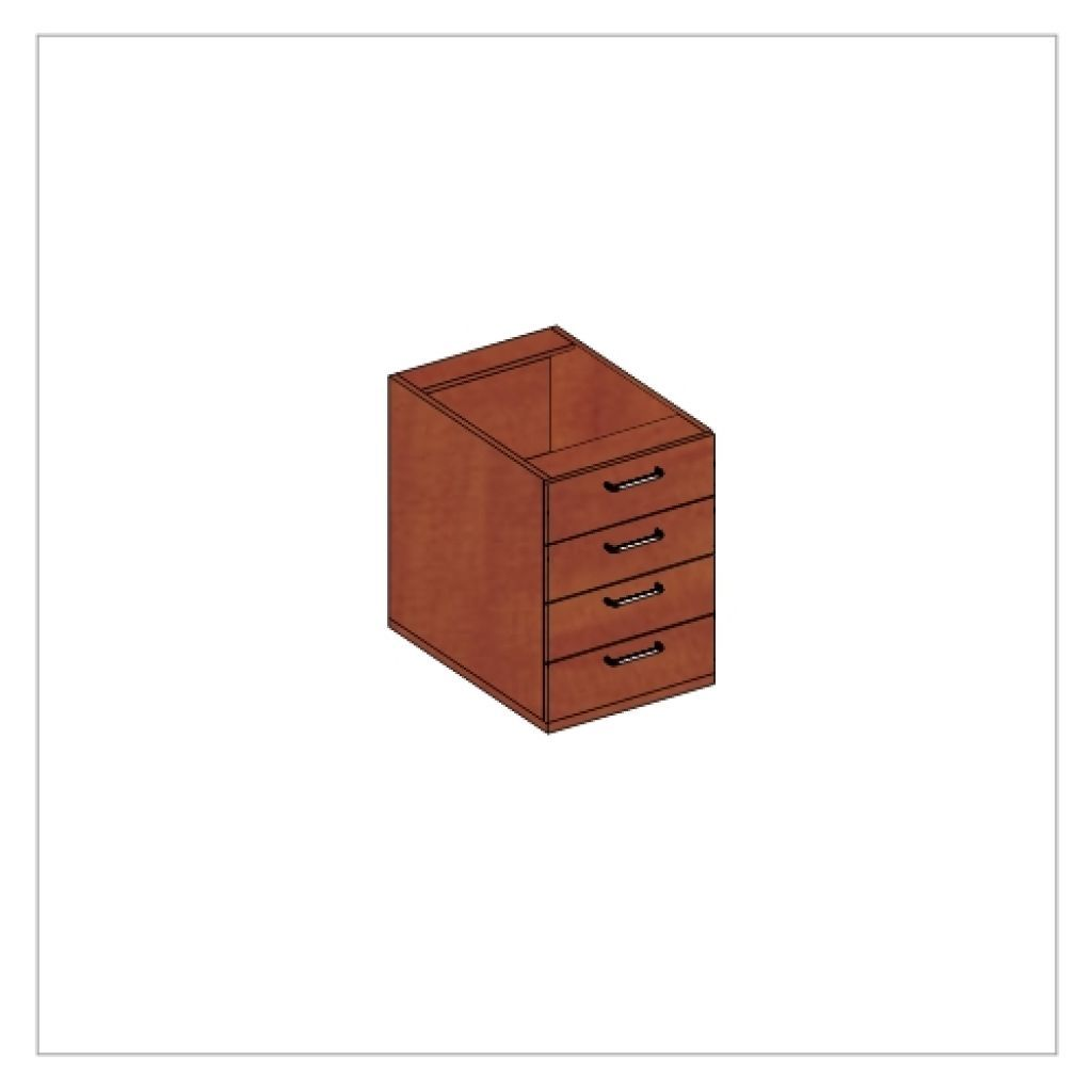 Kwantum irodabútor-4 fiókos-konténer