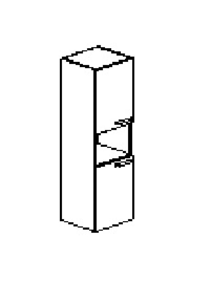 Silver irodabútor-irodai-ötrendezős-keskeny-nyitott-zárt-kétajtós-szekrény
