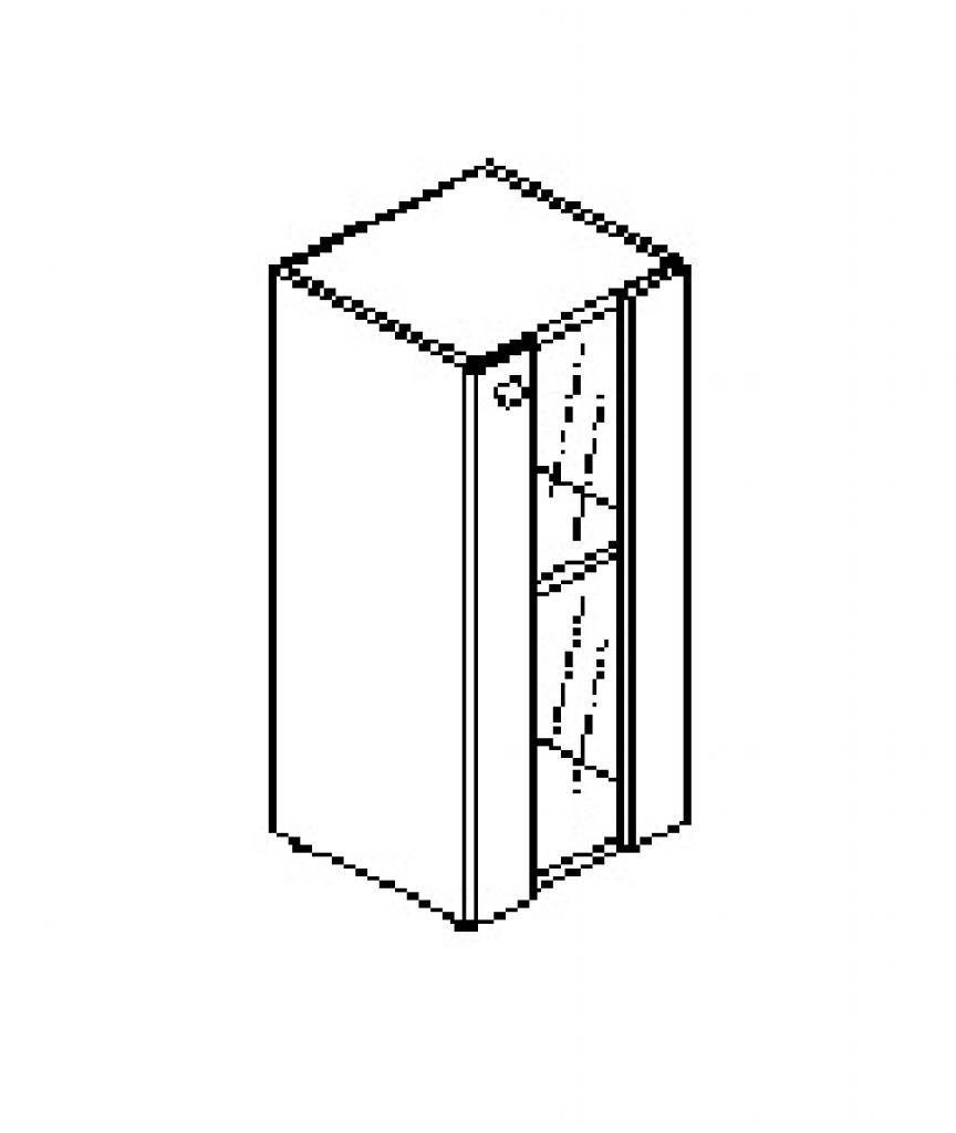 Silver irodabútor-irodai-keskeny-jobbos-faüvegajtós-szekrény