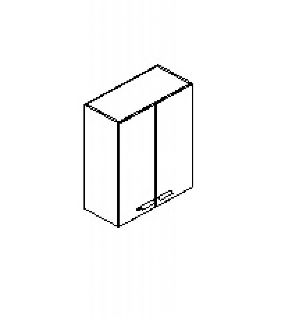 Silver irodabútor-irodai-ajtós-felső-szekrény
