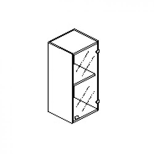 Silver irodabútor-irodai-keskeny-üveg-ajtós-felső-szekrény